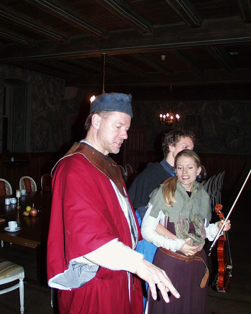 Mittelalterliche Musik mit Bankett