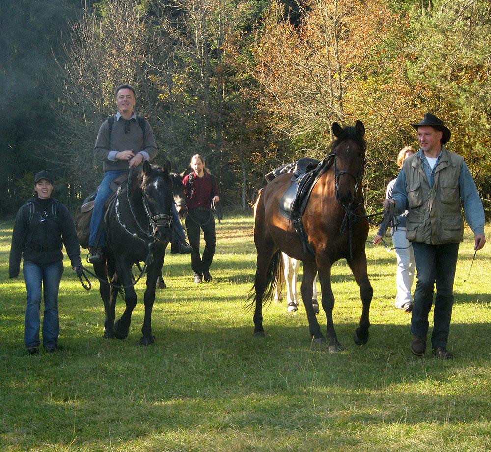 Trekkingtour mit Pferden